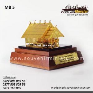 Souvenir Miniatur Rumah Adat Uma