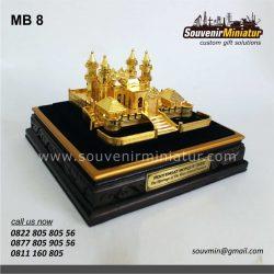 Souvenir Miniatur Masjid Penyengat Riau