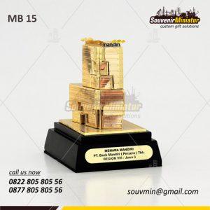 Souvenir Miniatur Bangunan Gedung Mandiri